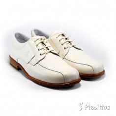 Zapato Beige Pespuntes